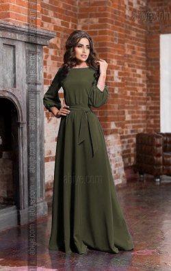 Haki Yeşil Bol Kesim Nişan Kıyafeti