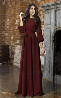 Bordo, Bol Kesim Nişan Kıyafeti