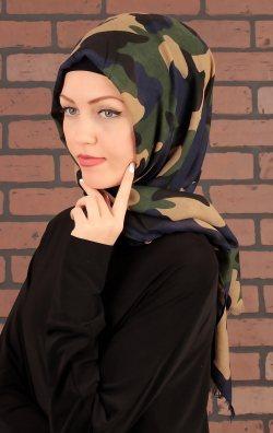 Kamuflaj Tasarım Bayan Şal