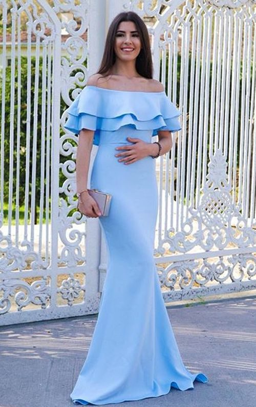 Kat Kat Volanlı Bebek Mavisi Balık Abiye