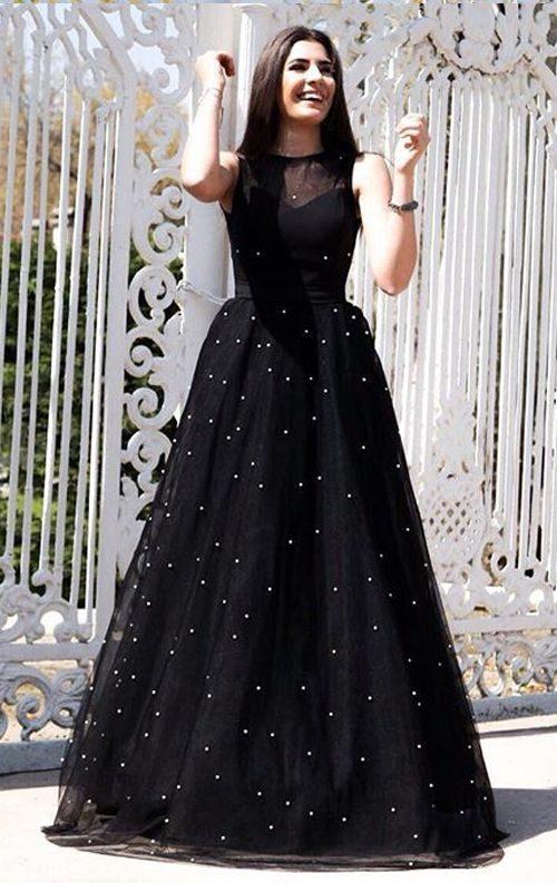 İnci Detay Tasarım Tül Abiye Elbise