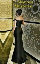 Siyah iki parça abiye elbise