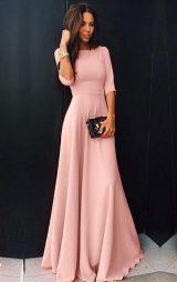 Pudra fakir kol uzun abiye elbise